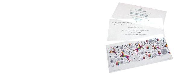 Exklusive Karten ❖ Online Druck Veredelungen in Kleinauflage  Laserstanzungen Relieflack ✓ Datenkontrolle inklusive